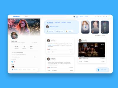 Facebook User Profile Redesign Concept