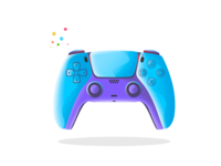 Ps 5 controller flat design flat illustration webdesign ux ui game procreate illustration remote illustrator art design vector controller