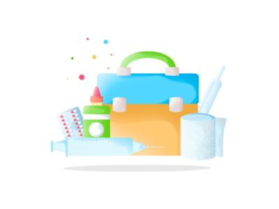 Medical kit icons logo icon art designer designer illustrator for hire artist ux ui app procreate illustrator art design illustration kit medical