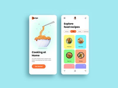 Recipe App food illustration dribbble redesign food branding ui screen icon typography illustrator design logo web design uiux ui recipe book recipe app recipe