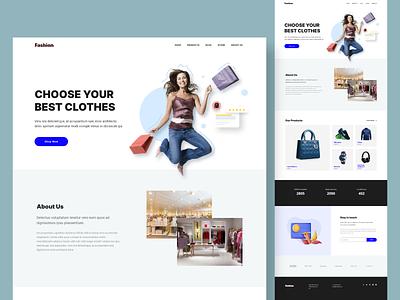 Fashion Store adobe xd shopping website online shopping uiux design illustration web landing landing page web design graphic design branding logo ui