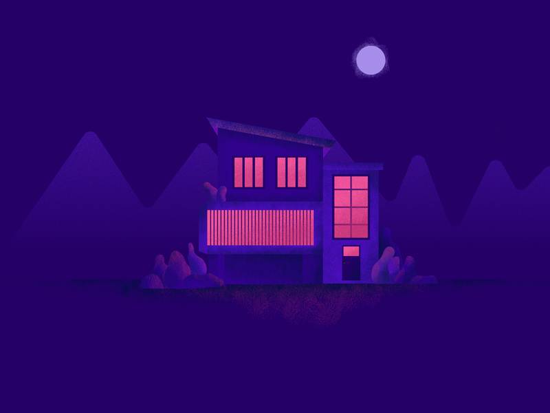 Dark House moonlight illustration dark art dark house