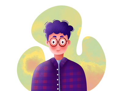 Man art illustrator procreate charactor illustration boy man
