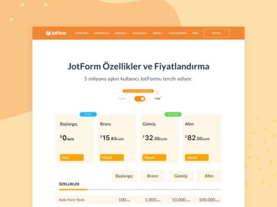 JotForm Pricing Page Concept