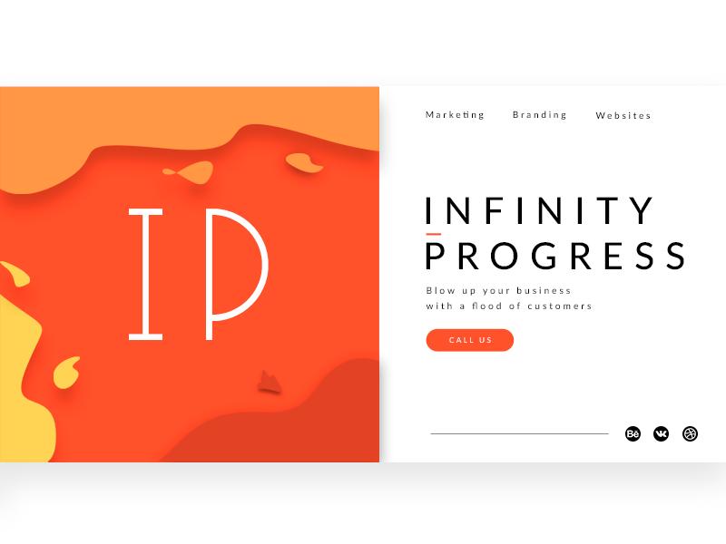 Infinity progress - Web minimal branding typography flat web ux ui design illustration