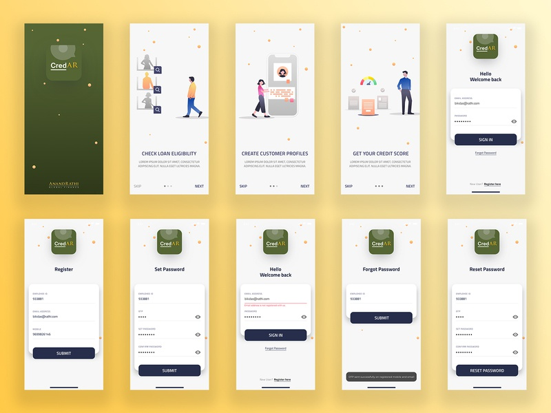 Mobile App Login Design login login screen illustration flat app ui ux typography mobileapp minimal design mobile ui mobile