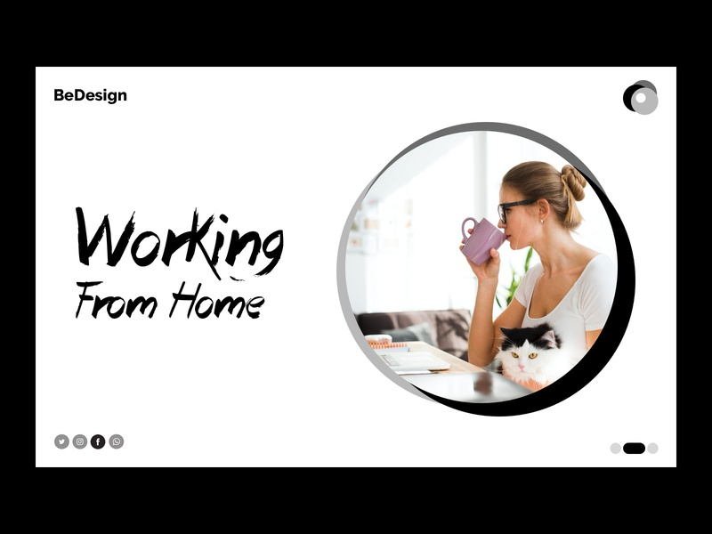 Landing Page - Working From Home working from home branding web landingpage typography minimal ui design ux