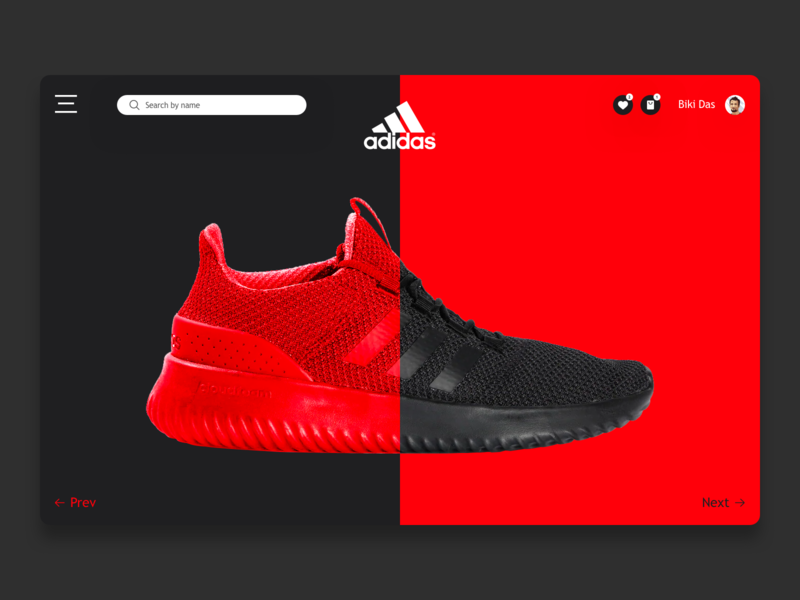 Adidas Shoes landing page design landing page adidas shoes ecommerce design website flat web branding landingpage minimal ui design ux