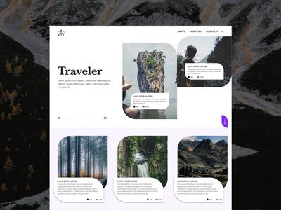 #Traveler - Blogger Website
