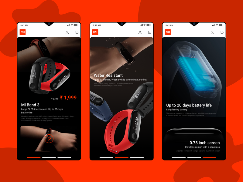 Mi Band3 #redesign typography app mobileapp ux design ui re-branding miband redesign