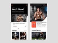 Workout blog app