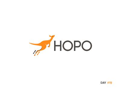 Daily Logo Challenge: Day 19 Kangaroo