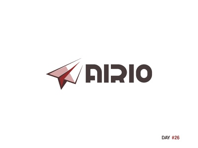 Daily Logo Challenge: Day 26 - Paper Airplane justforfun dailylogo dailylogochallenge airio airplane paper day26