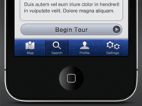 iPhone App Search/Detail View