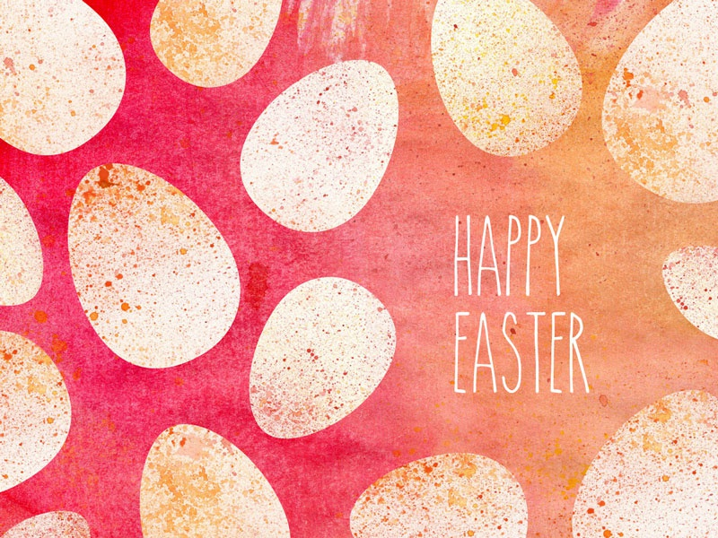 Happy Easter easter egg watercolor