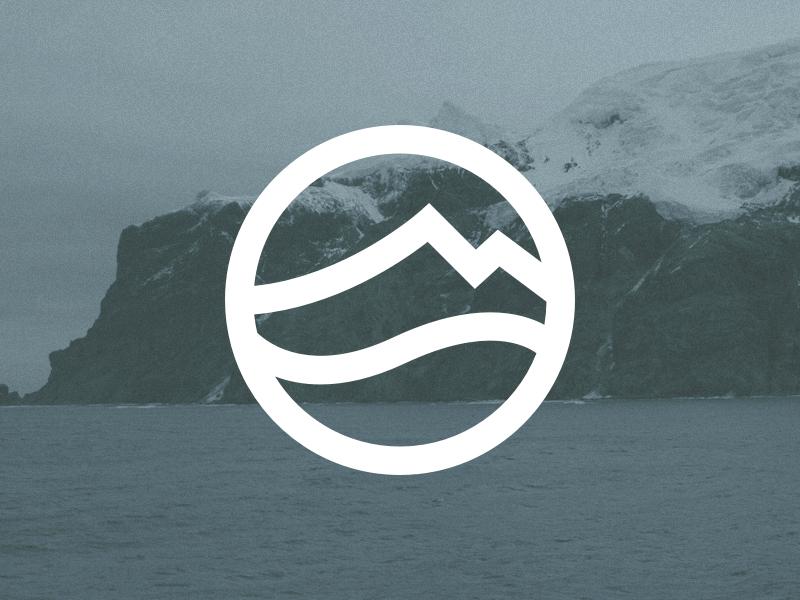 Mountain meets sea icon logomark logo ocean sea mountain