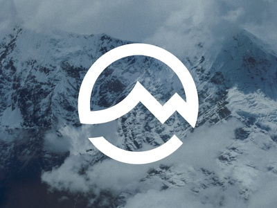 Mountain meets sea V2 icon logomark logo ocean sea mountain