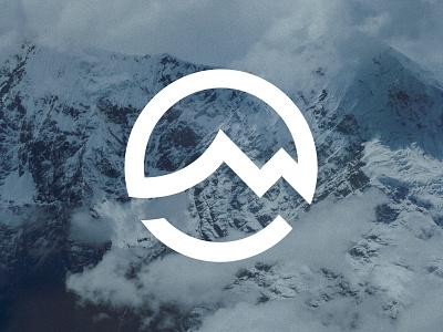 Mountain meets sea V2 icon logomark logo ocean sea mountain