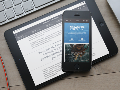 Norsk Petroleum Website website responsive app petroleum oil