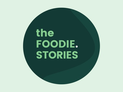 The Foodie.Stories foodie green logo