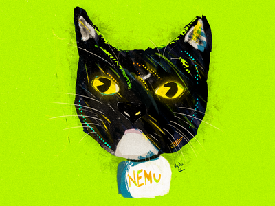 Cat series: III- Nemu. digital art draw wacom intuos wacom cat illustration drawing digital illustration digitalart digital digital painting