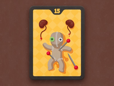 voodoo doll for card game