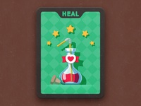 bottle of heal for card game
