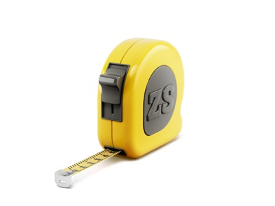 Tape-line icon tape-line gift icon yellow black on white size zs soda