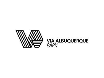 Via Albuquerque Park branding logo symbol bw car lot