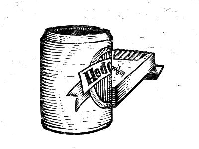 Hedonism II bw linocut distress vector illustration