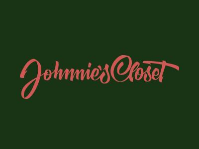 Johnnie's Closet Lettering custom lettering vector logo