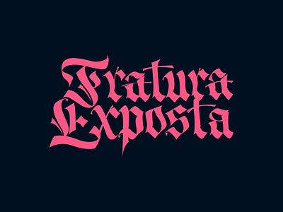 Fratura Exposta (i'm trying fraktur) fraktur gothic lettering calligraphy vector handwrite