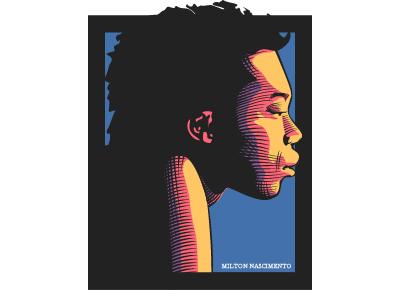 Milton Portrait scratchboard illustration portrait vector