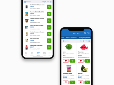Walmart.ca App - My Lists V1