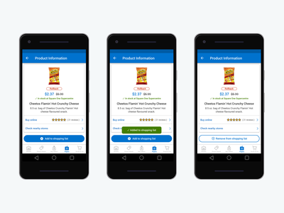 My Walmart App - Product Information mobile design mobile product design android product info ecommerce design my walmart app ui ux product details product information app design