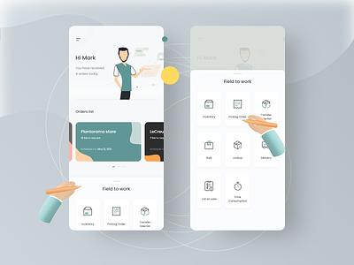 Juliana Drivhus - Warehouse management platform mobile design mobile app warehousing illustration app design ui design ux ui