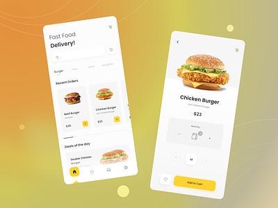Fast Food Order - Mobile app design ui design food design fast food mobile app app design ux ui