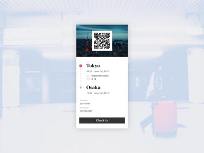 Daily UI  024 Boarding Pass