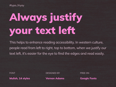Typography friday mobile app design typeface font typography