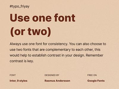 Typography Inspiration ux logo branding graphic design design mobile app design dailyui typo