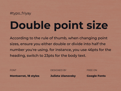 Typography Friday logo 3d motion graphics graphic design animation google montserrat typeface typography ui branding mobile app design dailyui font