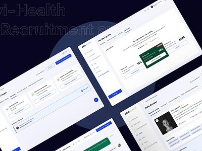 Devi-Health - Health recruitment app design human resource recruitment app health app e-health health web app ui dailyui landing page
