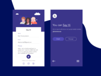 Daily Ui #028- Contact us