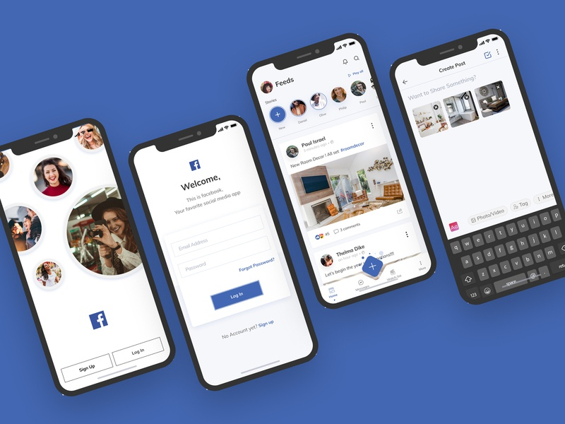 Uplabs Design Challenge - Facebook redesign 2019 by Dike