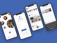 Uplabs Design Challenge - Facebook redesign 2019