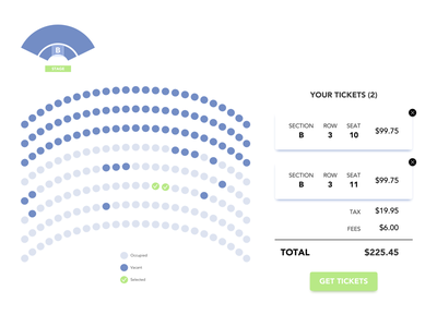 Daily UI #029 Map, Daily UI #30 Pricing ux design uiux seating chart map user interface ui design daily ui