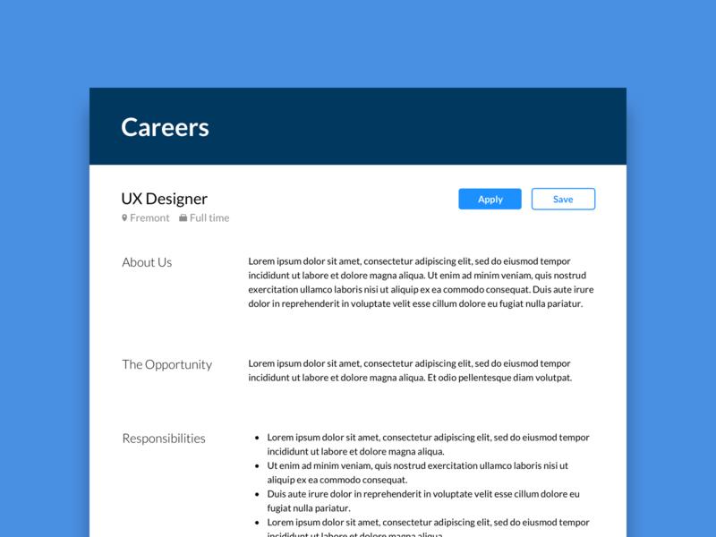 Daily UI #50 Job Listing job posting job listing uiux daily ui ux design user interface ui design