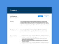 Daily UI #50 Job Listing