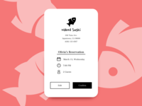Daily UI #54 Confirm Reservation