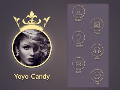 Yoyo Candy ux design ui interface